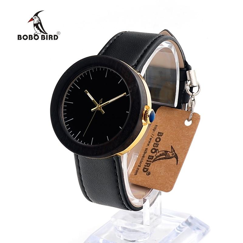 BOBO BIRD J26 Relojes Mujer Women Watch Top Brand Luxury Gold Watch Bottom Shell Simple Style
