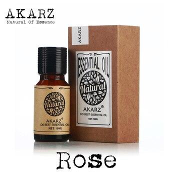Aceite Esencial de Rosa AKARZ famosa marca natural oleosidad cosméticos jabón vela olores que hace DIY olor materia prima aceite de rosa