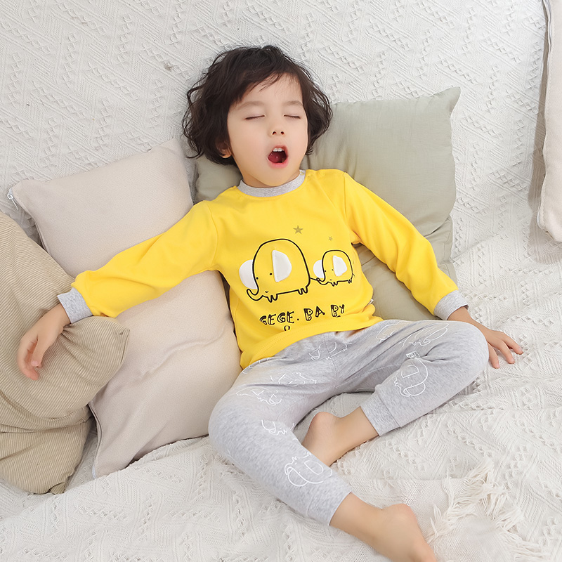 2pcs/set Baby Clothes Sets Kid Pajamas Set Infant Baby Girl Set Clothes Long Sleeve Elephant Tshirt Pants Baby Boy Clothing Suit new baby boy clothes fashion cotton short sleeved letter t shirt pants baby boys clothing set infant 2pcs suit baby girl clothes