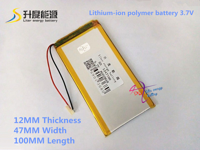 3.7V 8000mAH 1247100 Polymer lithium ion / Li-ion battery for tablet pc,power bank,cell phone,speaker;PIPO