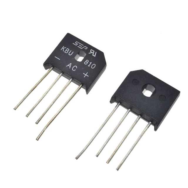 10pcs Kbu 8a 1000v Diode Bridge Rectifier New And Original Ic Free Shipping