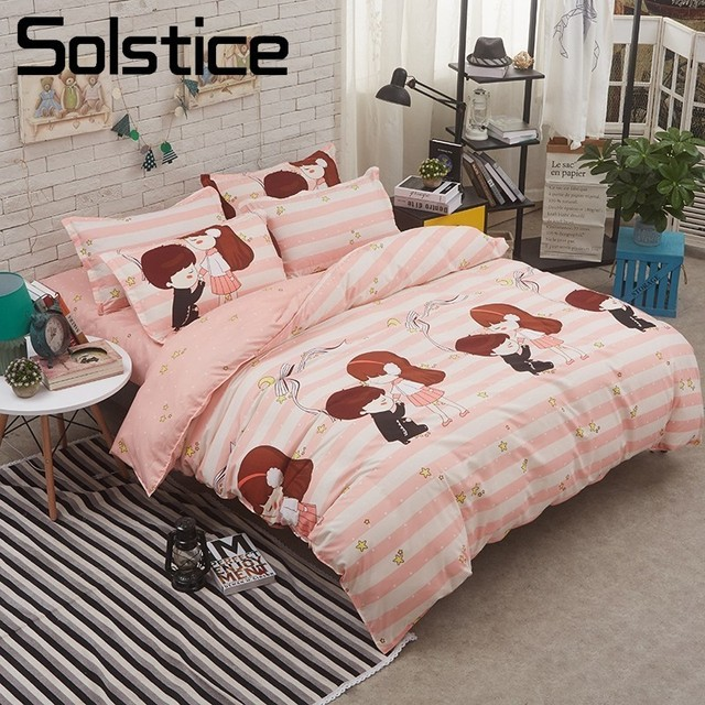 Fine Us 21 84 30 Off Solstice Home Textile Twin Full Queen King Bedding Set Love Romance Boy Girls Duvet Quilt Cover Pillowcase Flat Sheet Teen Linen In Download Free Architecture Designs Rallybritishbridgeorg