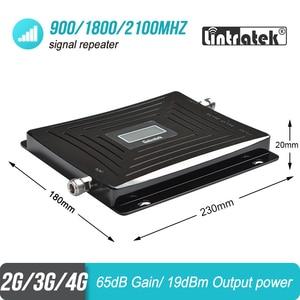 Image 3 - Lintratek الخلوية إشارة الداعم 900 1800 2100 GSM ثلاثي الفرقة مكبر للصوت موبايل مكرر إشارة DCS WCDMA 2G 3G 4G LTE هوائي #40