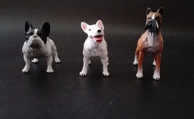export! original 3pcs pets cute dog boxer dog pug dog bull terrier ...