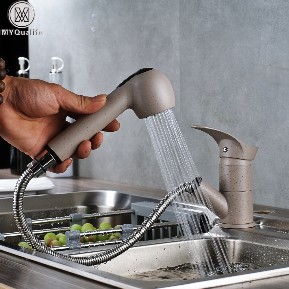 Luxury Pull Out Kitchen Faucet Deck Mount Kitchen Water Taps with Hot and Cold Water Single Handle Crane Taps luxury pull out kitchen faucet deck mount kitchen water taps with hot and cold water single handle crane taps