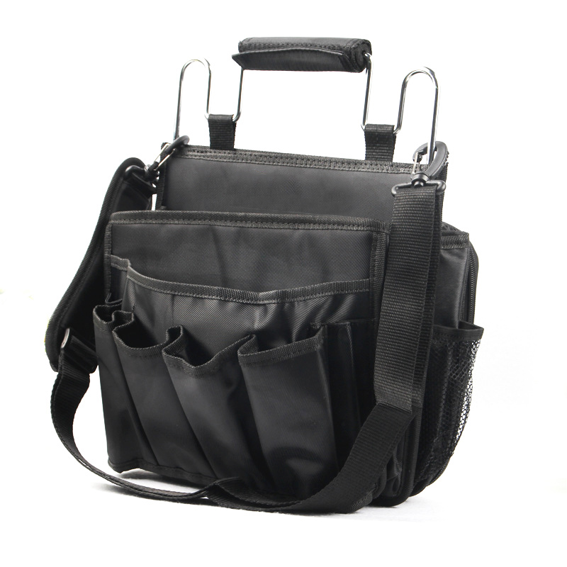 Extra Large Steel Handle Hairdresser Tools Bag Handcarry Shoulder Case Pouch Various Pockets Multifunction Canvas Bags