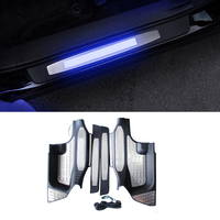 Car Accessories For Toyota Highlander 2015 2018 LED Scuff Plate Door Sill Covers Stainless steel Door Sills Protector with logo