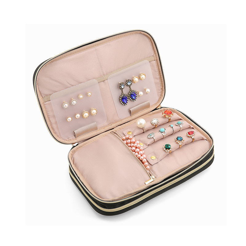 BAGSMART Women Travel Bags Double Layer Jewelry Holder Necklace Bracelet Earring Ring Watch Pouch Bag Jewelry Organizer Cases 1