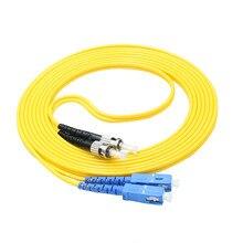 5PCS /Lot SC/UPC to ST/UPC Single-mode optical fiber patch cord SM SC/ST jumper cabel