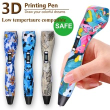 Newest Original Model 3D Pen Can Add 200Meter PLA Best Gift Education Tools For Kids Toys Pen 3D Drawing Pen PCL/PLA Material
