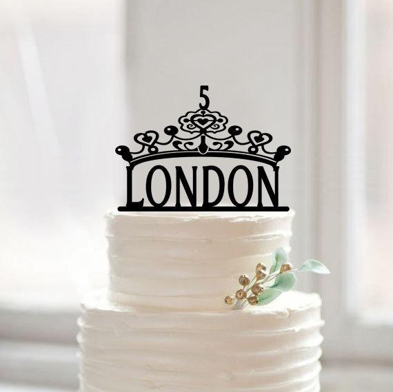 Baby Shower Crown Cake Topper, isikupärastatud nimega kookikoppid, - Pühad ja peod - Foto 1
