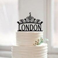 Baby Shower Korona Ciasto Topper, spersonalizowane Nazwa Cake Wykaszarki, księżniczka Projekt dla Kid Dziewczynka 1st Birthday Party Dekoracje