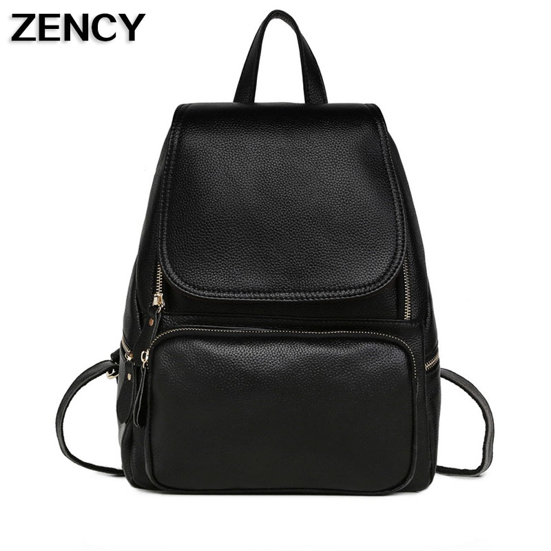 2017 Real Soft Genuine Leather Women Backpacks Ladies Girl's Backpack Top Layer Cowhide School Bag Mochila zency fashion leather backpack real natural genuine leather women backpacks ladies girl school bag top layer cowhide mochila