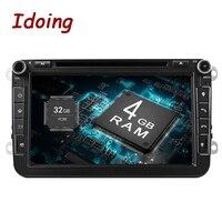 Idoing Android8.0 4 г Оперативная память 32 г Встроенная память 8 Core 2Din руль для VW/Skoda/Seat автомобильный мультимедийный dvd плеер быстрая загрузка ТВ 1080 P