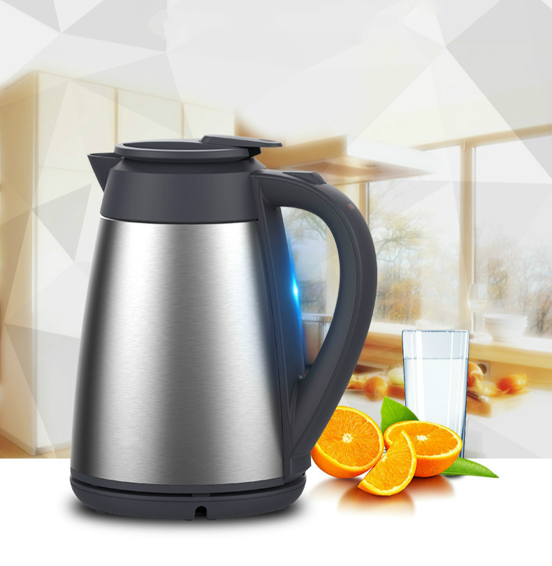Vacuum insulated electric kettle  304 stainless steel double-layer proof Overheat Protection stainless steel insulated vacuum mug silver 350ml