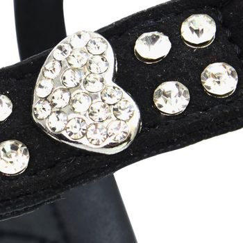 Pet Chest Strap Shining Rhinestone Heart design Vest Harnesses soft  4
