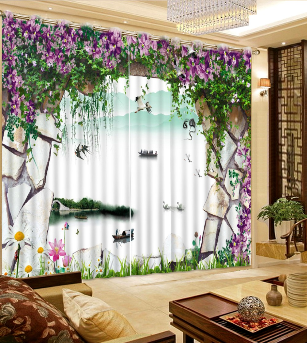 Scenery Curtains online get cheap modern scenery curtains -aliexpress | alibaba
