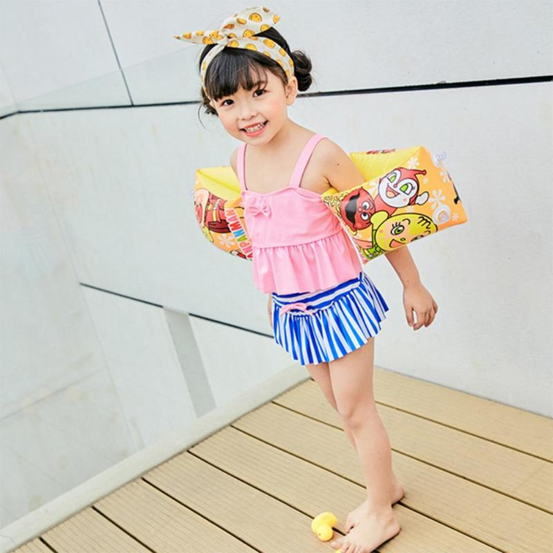 2pcs Baby PVC Arm Swimming Ring Children Cartoon Inflatable Swim Pool Arm Circle Safety Floating Gilrs Boys Training Equipment
