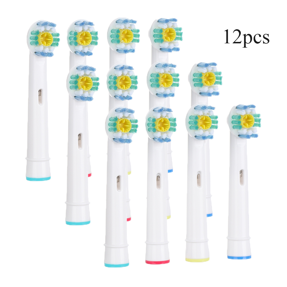 4/12Pcs Replacement Toothbrush Heads For Oral Hygiene Care B Cross Floss Precision Soft Bristle Electric Tooth Brushes Heads