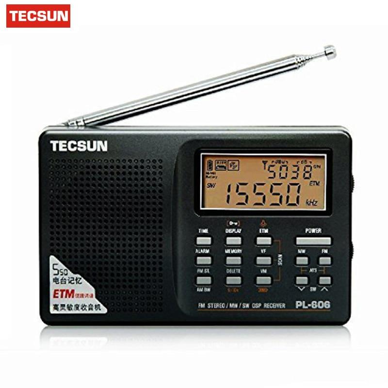 Tecsun PL-606 PL606 Digital Radio PLL Portable FM Stereo/LW/SW/MW DSP Receiver Radio