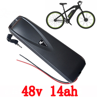 48V Electric Bike Battery 48V 14AH use sanyo 3500mah cell Lithiumio Battery Pack for 48V 500W 750W Mid Driver Hub Moter