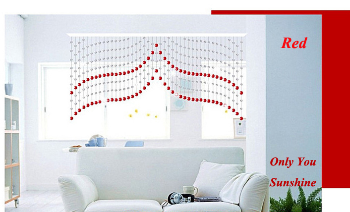 Free Shipping! New Fashion 003 Bead Beaded Door <font><b>Curtains</b></font>/ <font><b>Curtain</b></font> ---Made to Measure Size 1m(Drop) * 2 m(Width