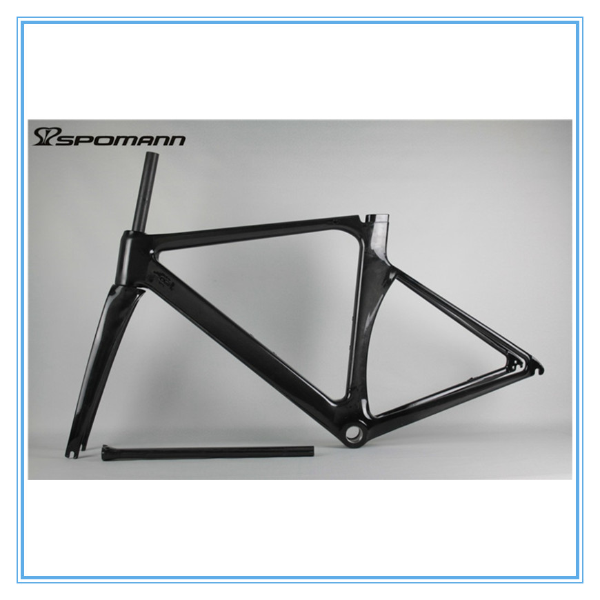 chinese hot selling road bike frame carton fiber bicycle track frame ud black oem bicicleta accessories