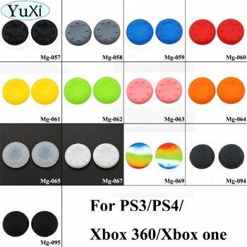 YuXi 2 шт. для PS4 PS3 для XBOX 360/ONE контроллер резиновая силиконовая крышка для большого пальца 3D Аналоговый джойстик ручка Крышка