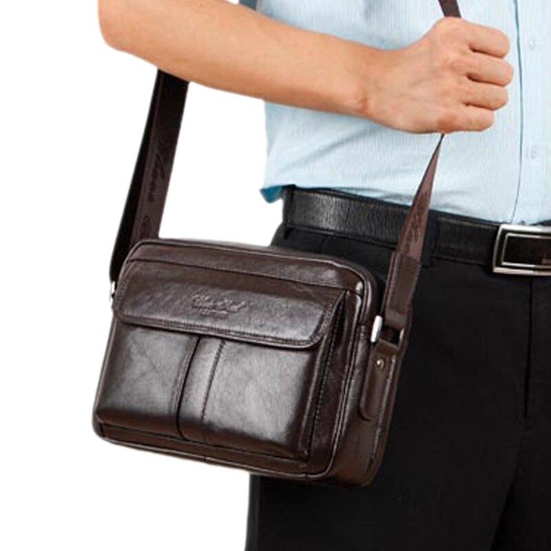 Genuine Leather Men Classical Messenger font b Bags b font Fashion Casual Business Shoulder Handbags for
