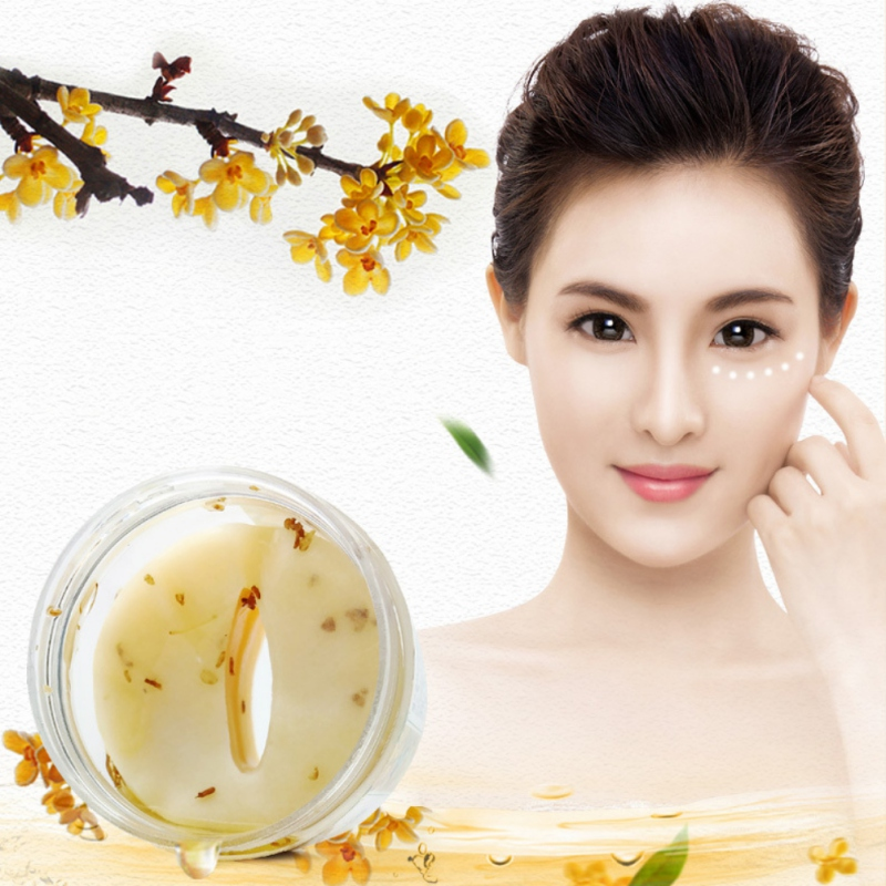 80pcs/set Gold Osmanthus Eye Mask Women face care sleep patches Anti Aging Anti Wrinkles SKIN CARE