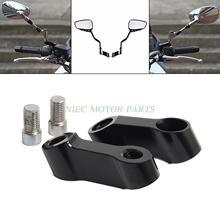 Universal M10 M8 CNC Aluminum 8mm 10mm Motorcycle Bike Mirror Mount Riser Extender Adapter