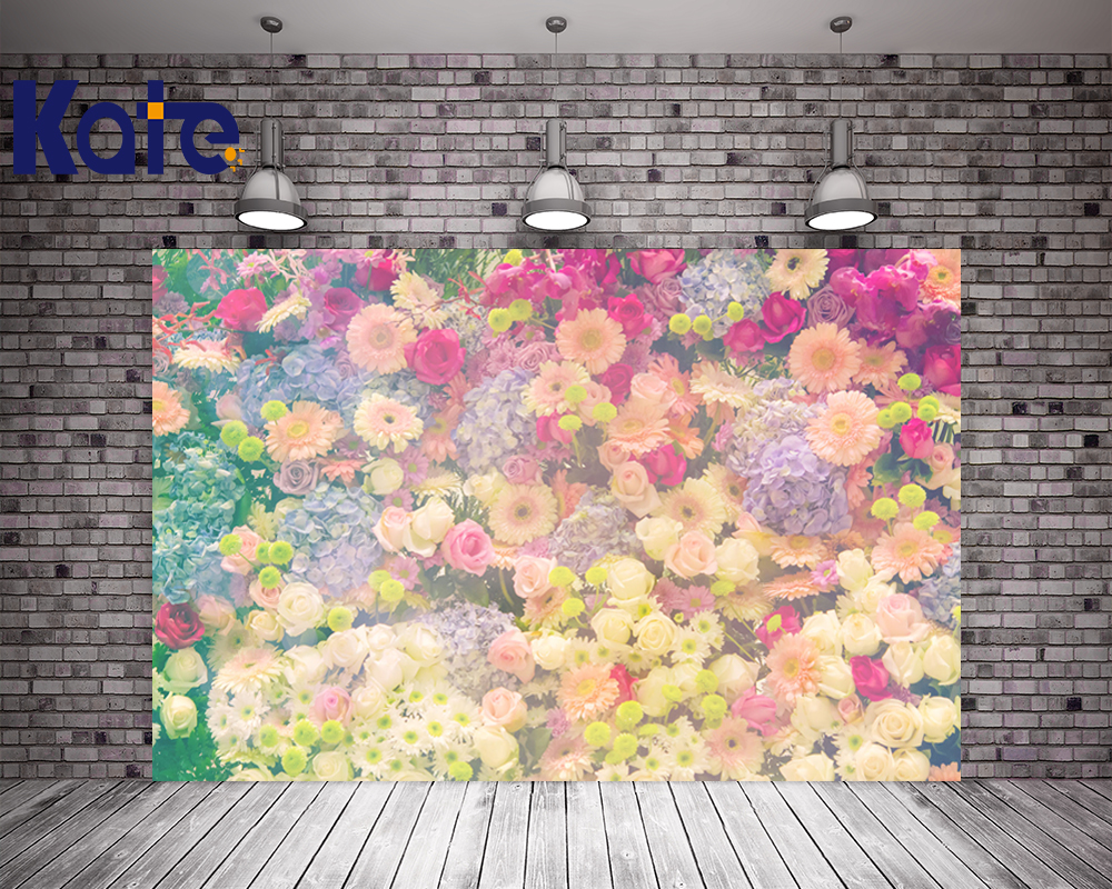 KATE 5x7ft Photography Background Spring Scenery Backdrops Natural Floral Backdrop Flower Wedding Background for Photo Studio kate photo background scenery