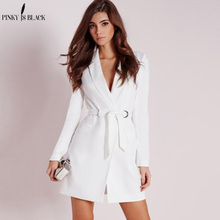 PinkyIsBlack 2018 New Women Business Suits Spring Autumn All-match women Blazer Jackets Short Slim long-sleeve Suit