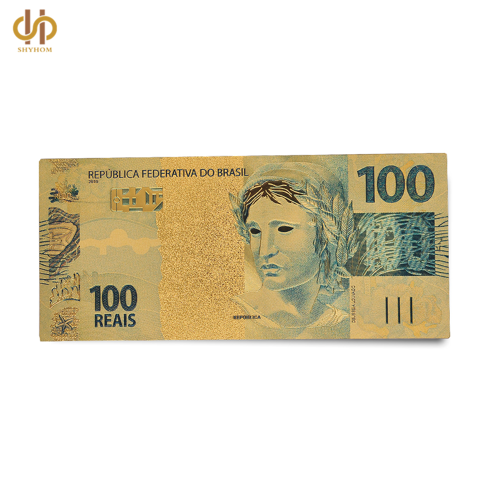 Brazil Colored Gold Dollar 100 Reais Golden Foil Money Note Collection In Banknotes From Home Garden On Aliexpress Alibaba Group