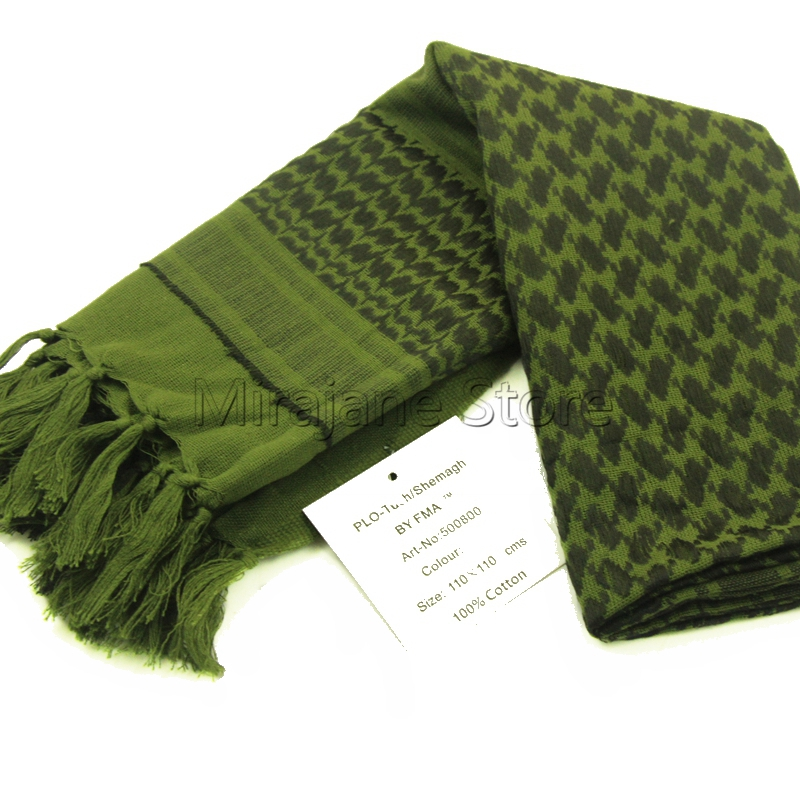 New Army Green Military Winter Shemagh Tactical Scarf 100% Cotton Keffiyeh Scarf Wrap Outdoor Hiking Hunting Windproof Sacrves цена 2017