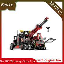 Bevle Store LEPIN 20020 1877Pcs with original box Technic Series Heavy Container Truck Head Building Blocks Bricks 8285 gift