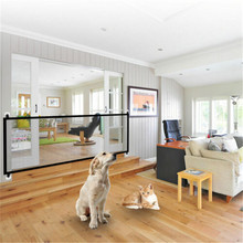 2019 Magic-Gate Dog Pet Fences Portable Folding Safe Guard Indoor and Outdoor Protection Safety Magic Gate For Dogs Cat Pet недорого
