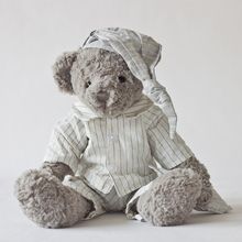 Plush Toy Grey Bear With Stripe Shirt Handsome Bear Stuffed Toys New Design High Quality Baby Bedding Decoration Bear Toys