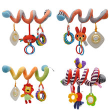 Spiral Infant Toys Plush Rattle Animal For Stroller Bed Car Seat Educational Hanging Baby Toys 0-12 Months Rattles Birthday Gift(China)