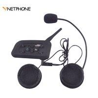 Vnetphone 2018 V6 1200M helmet bluetooth headset bluetooth intercom for motorcycle for 6 riders BT Wireless Interphone Headsets