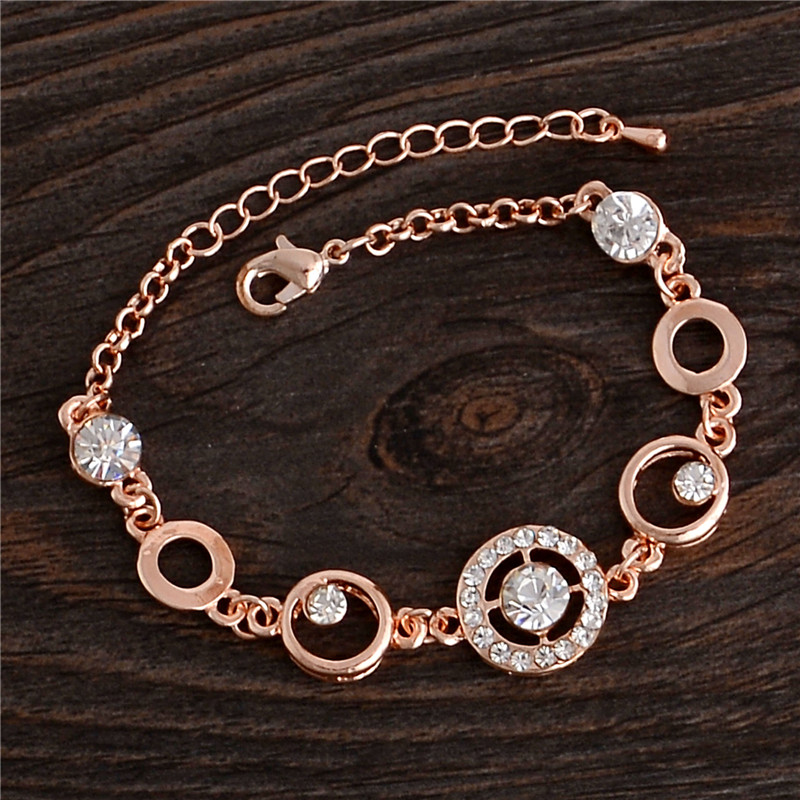 0363 Dama Brazalete Pulseras S Rose Gold Filled Zircon Bracelets Angle Wings Bracelet For Women Fashion Jewelry In Chain Link From