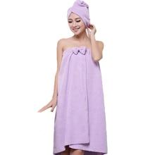 Новые симпатичные мягкой микрофибры магия абсорбент сухой липучки спа-ванна towel hair towel set beach towel платье халат для взрослых