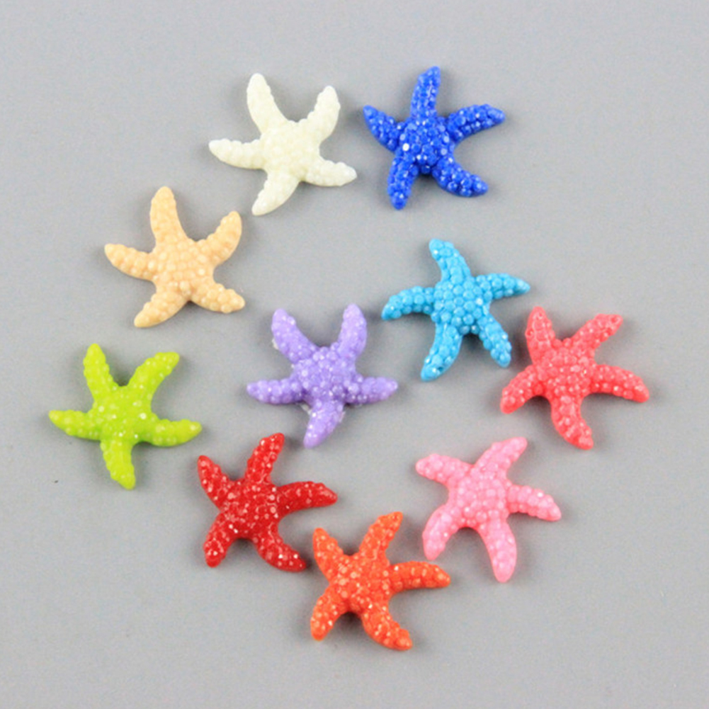 Resin Cute Miniature Starfish For Wishing Bottle DIY Cute Crafts Mini Artificial Decoration RFID Blocking #723