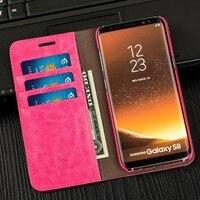 Laumans Luxury Women Leather Case For Samsung S8 Plus S7Edge Lady Girls Wallet Phone Bag Cases