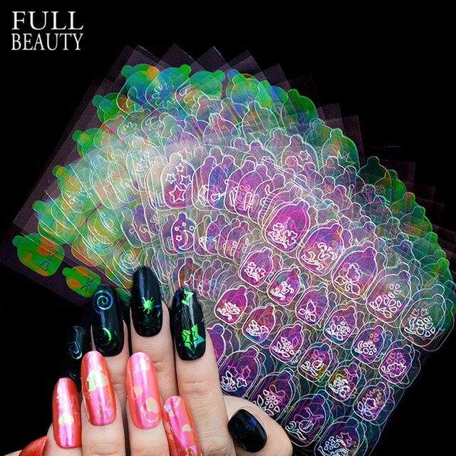 New 3D Nail Vinyls Sets DIY AB Chameleon Adhesive Charms Xmas ...