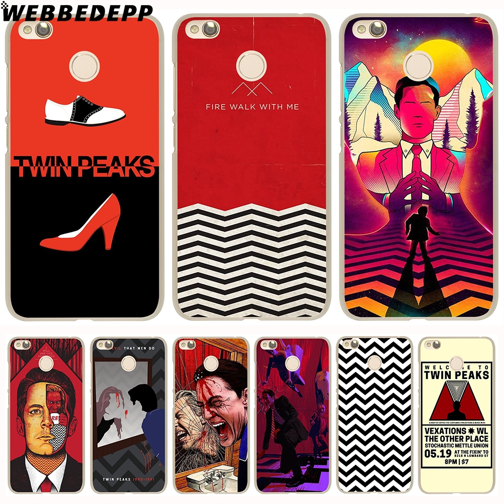 WEBBEDEPP Red WELCOME TO TWIN PEAKS Case for Xiaomi Mi 8 SE 6 5S A1 Redmi 4X 4A 5A 5 Plus 3S Note 5 Pro 4X