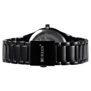 Image 5 - Curren Luxe Klassieke Mode Business Mannen Horloges Display Datum Quartz Horloge Mannelijke Horloge Volledige Steel Klok Relogio Masculino