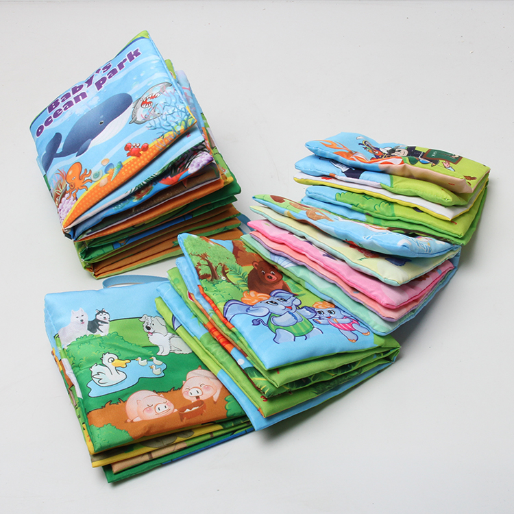 6pcs Books For Baby Toys Learning Educational Brinquedos Anime Sensory Book Environmental Safe Toys Soft Fabric Reading Book
