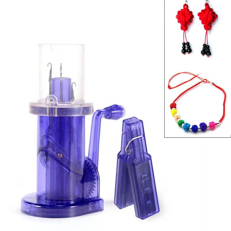 Hand Knitting Machine Plastic Spool Knitter Wool Winder Crafts DIY Bracelet Weave Tools FP8