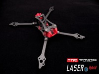 TRANSTEC LASER S LITE 224mm FPV Racing Drone Frame 6mm Arm 7075 Aluminum Smooth Coating Carbon Fiber 4 in 1 ESC 5 Inch props
